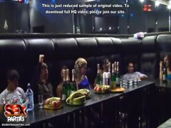 Party blowjob and drunk student orgy