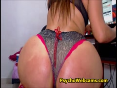 Latina Big Butt On Chair and Anal Toying